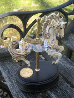 SALE...Vintage Carousel Horse, San Francisco Music Box Collectable. Porcelain. LIMITED EDITION. Children, Home Decor. Numbered. via Etsy