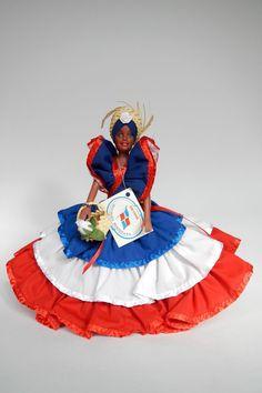 Dominican Republic Doll Antilles with label 25 cm - poppentopper.com