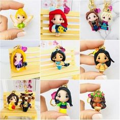Our shop will be live in 2 hrs! Central Time USA) ✨🤩 Tag 3 friends who will love this! Polymer Clay Princess, Polymer Clay Disney, Cute Polymer Clay, Cute Clay, Polymer Clay Dolls, Polymer Clay Miniatures, Polymer Clay Charms, Polymer Clay Projects, Polymer Clay Creations