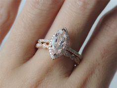 """InOurStar,to help more people find beautiful ways to say :I love you"""" with a gift of fine jewelry.    Here are the Details:  Morganite Engagement Ring:"""
