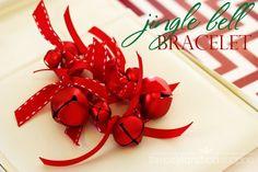 Easy Jingle Bell Bracelet | Kim Byers, TheCelebrationShoppe.com #partyfavors #christmascrafts #kidcrafts