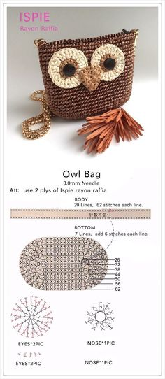 Bast ISPIE yafit raffia! - Crochet and Knitting Patterns Bast Crochet Coin Purse, Crochet Purse Patterns, Crochet Pouch, Crochet Purses, Crochet Gifts, Crochet Yarn, Knitting Patterns, Knitting Ideas, Crochet Shawl