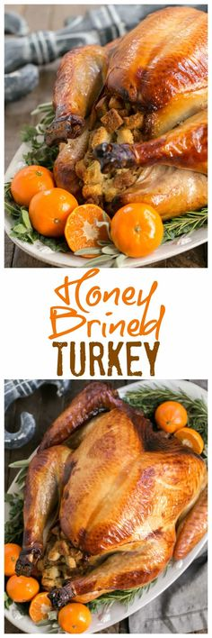Honey Brined Turkey Recipe #turkey #Thanksgiving #turkeybrine | The perfect way to get succulent meat from your holiday turkey