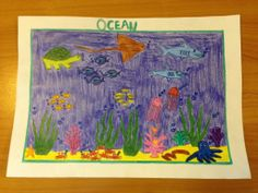 Falhimath Anna Shafeez - Age 9 Drawing Competition, Ocean Day, Marine Conservation, Oceans Of The World, Anna, Drawings, School, Artwork, Work Of Art
