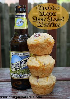 Cheddar Bacon Beer Bread Muffins- a few of my favorite things rolled into one