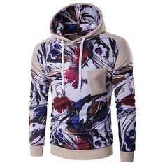 Gustomerd 2016 New Fashion Brand Patchwrok Printed Hoodies Men Winter Slim Fit Tracksuits Wit Hoody Mens Hoodies And Sweatshirts
