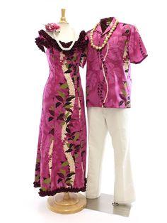 Hula Costumes,Uli Uli,Ipu,Hawaiian Lei,Haku Headband,etc.Authentic Hula Supplies,Free Shipping from Hawaii! Hawaiian Muumuu, Hawaiian Dresses, Samoan Dress, Island Style Clothing, Luau Dress, New Dress Pattern, Tropical Dress, Island Wear, Fashion Fabric