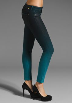 DL1961 x Bag Snob Emma Legging in Bali Teal Ombre at Revolve Clothing