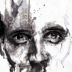 Love this mixed media drawing - Adam by Florian NICOLLE