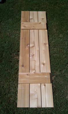 Craftsman Style Cedar Board and Batten Shutters