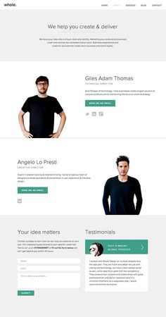 Whole Design Studios Interactive Web Design, Restaurant Website Design, Team Page, About Us Page, Instructional Design, Product Page, Creative Director, Layout Design, Architecture Design