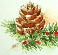 Image result for christmas watercolor paintings