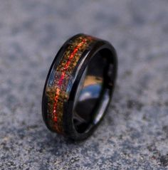 Safe Active Rings 8mm Red Stripe Man Silicon Wedding Band Ring Cavaliers Nba Silicone
