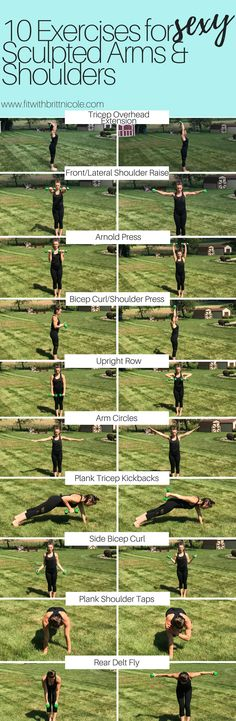 10 Exercises for sexy sculpted arms and shoulders! It's tank top season! Perfect workout and exercises for summer!