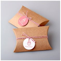 Kraft pillow box 10 pieces of Pillow Gift Boxes by PaperNRibbon