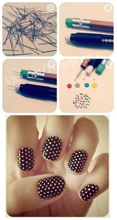 12 amazing diy nail art designs using scotch tape scotch tape quick and easy diy dotting tools prinsesfo Images