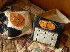 "NEW from Notforgotten Farm ~ punch needle pattern 2-in-1 title: ""Witch One?"""