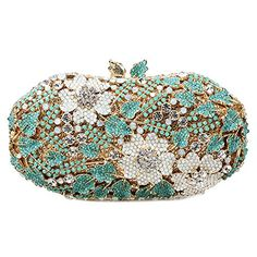 9d16a9f2bf48 Your Gallery Women s Luxury Elegnat Hollow Out Rhinestone Flower Party  Clutch