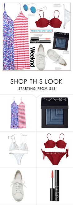 """""""Memorial Day Bbq"""" by mycherryblossom ❤ liked on Polyvore featuring NARS Cosmetics and Santoni"""
