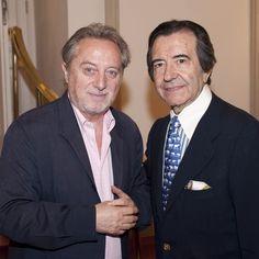 Enrique Cornejo y el actor Manuel Galiana