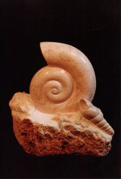 Seashells stone sculpture