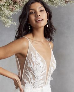 And she is absolutely perfect 😍🌸 The embroidered florals on the bodice were inspired by the feminine foliage along the Amalfi Coast 🌊 @kellyfaetanini does it again! . . . #cameoandcufflinks #weddinggown #weddingdress #weddinginspo #weddingideas #weddinginspiration #bridalinspo #bridalinspiration #bridalideas #calgarybridalshop #calgarybridalboutique #daniellagown #kellyfaetanini #kfdaniella Elegant Bride, Elegant Wedding, Bridal Gowns, Wedding Gowns, Wedding Dress Boutiques, Bridal Stores, Gowns Of Elegance, Bridal Boutique, Boutique Dresses