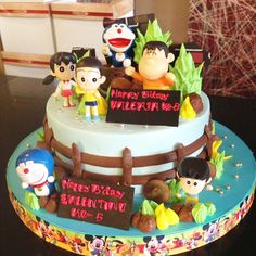 Doraemon and Friends Birthday Cake - Made by: Strawberry Delight Cirebon