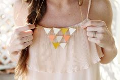 30 Ideas For Necklace Which You Can Made In Your Home  - @Erika Hernández podemos hacer este plis?