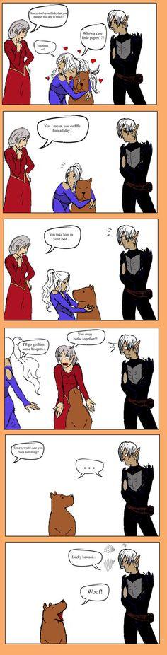 Mabari lover by hobbithase on deviantART