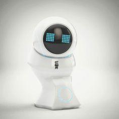 Litte Assistant by pixelfret 3d Character, Cinema 4d, 3d Design, 3 D, Concept Art, Clock, Robots, Instagram Posts, Bluetooth