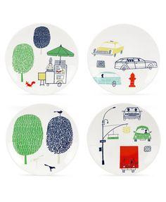 kate spade new york Dinnerware, Set of 4 About Town Tidbit Plates