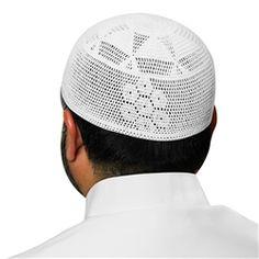 White Swiss Cotton Knitted Kufi Muslim Prayer Mens Skull Cap - 22 inch  Muslim Men 30c3ef967b30