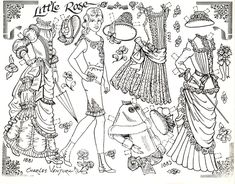 「paper doll coloring」の画像検索結果