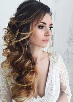 62 Ideas vintage wedding hairstyles for long hair updo for 2019 Wedding Hair Side, Long Hair Wedding Styles, Elegant Wedding Hair, Vintage Wedding Hair, Wedding Hair And Makeup, Wedding Vows, Vintage Updo, Trendy Wedding, Vintage Waves