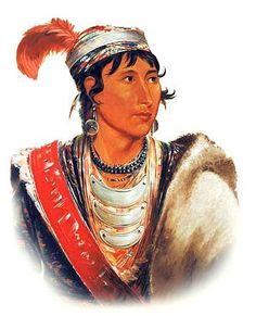 """Láh-shee, The Licker, called """"Creek Billy"""", 1838, Seminole tribe by George Catlin (1796-1872)"""