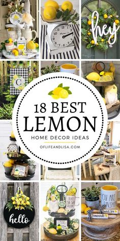 18 beautiful ways to brighten your home with lemon decor farmhouse end table makeover Country Farmhouse Decor, Farmhouse Kitchen Decor, Farmhouse Style, Decor Crafts, Diy Home Decor, Chalk Crafts, Decor Room, Lemon Kitchen Decor, Kitchen Themes