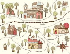 Map of the fairytale world Fairy Land, Fairy Tales, Once Upon A Time, My Books, Create, World, Maps, Illustrations, Fairytale