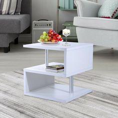 Center Table Living Room, Home Living Room, Living Room Furniture, Home Furniture, Furniture Design, Floor Shelf, Shelving Design, Wooden Side Table, White Side Tables