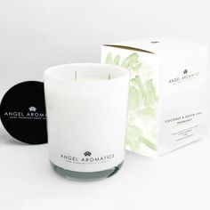 Coconut & Kaffir Lime - Full-bodied lime blossoms with a twist of lemon and coconut water.  Triple scented candle encompasses 100% all-natural waxes handcrafted in Australia using the highest quality fragrances, essential oils, and natural lead-free cotton wicks. Paraben-free, vegan friendly and not tested on animals.