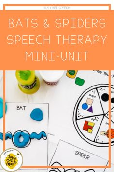 Halloween Mini Unit for Speech Therapy! Perfect for language and articulation session!