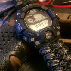 Casio G-Shock Rangeman with Knotty Dan paracord wrist band GW-9400BJ