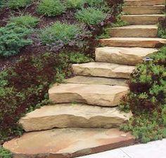 Very neat stone steps