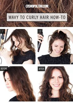 If you were born with naturally wavy hair but want to either define your waves or take them to the next level, here's a quick and easy tutorial.