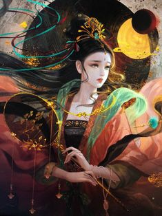Manga Watercolor, Anime Art Fantasy, Art Corner, China Art, Illustrations, Ancient Art, Character Illustration, Japanese Art, Character Art