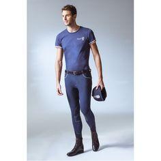 """T-Shirt uomo a maniche corte by Equi-Theme """"E.L."""" in 100% cotone con taglio leggermente su misura e impunture a contrasto."""