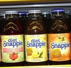 Need a healthy drink option for your road trip? Try a Diet Snapple! Find tons of other healthy road trip snack ideas here.