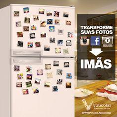 Suas fotos do facebook e instagram em imãs de geladeira ;)