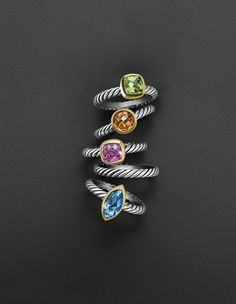 David Yurman Rings.  Available at Alson Jewelers.