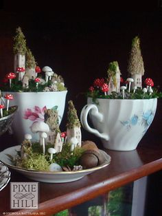 small and cute. Gnome instead of fairy? Pixie Hill's fairy houses.