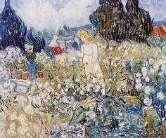 Vincent Van Gogh - Mlle Gacht in her Garden